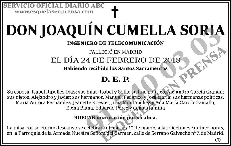 Joaquín Cumella Soria